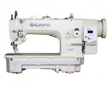 Высокоскоростная одноигольная швейная машина челночного стежка Shunfa SF 0303-D для тяжёлых материалов