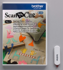 Набор дизайнов Scan&Cut для аппликаций CAUSB2