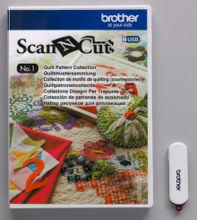 Набор дизайнов Scan&Cut для квилтинга CAUSB1