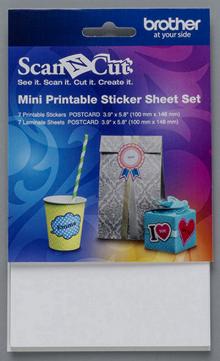 Комплект мини-листов Scan&Cut для печатных наклеек CAPSSMINI1
