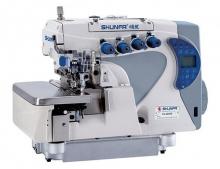 Промышленный 4-х ниточный оверлок Shunfa F5-4D/EP с дифференциальным продвижением материалов и сервоприводом