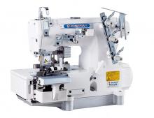 Промышленная 4/5-ти ниточная распошивальная машина Shunfa SF 562-03CB/TY с дифференциальным продвижением материалов и сервоприводом