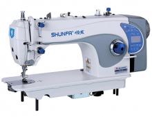 Высокоскоростная одноигольная швейная машина челночного стежка Shunfa S4-D4 для лёгких, средних и тяжёлых тканей