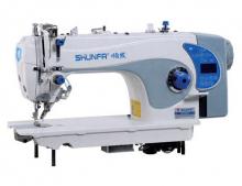 Высокоскоростная одноигольная швейная машина челночного стежка Shunfa S4-D4/S/T для лёгких, средних и тяжёлых тканей