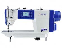 Высокоскоростная одноигольная швейная машина челночного стежка Shunfa S 610 для лёгких, средних и тяжёлых тканей