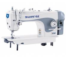 Высокоскоростная одноигольная швейная машина челночного стежка Shunfa S-1/H для средних и тяжелых тканей